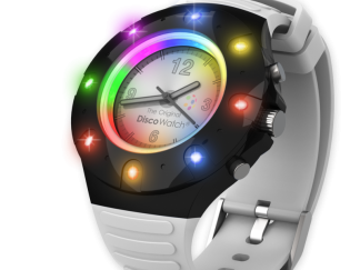 Disco watch horloge 8 led